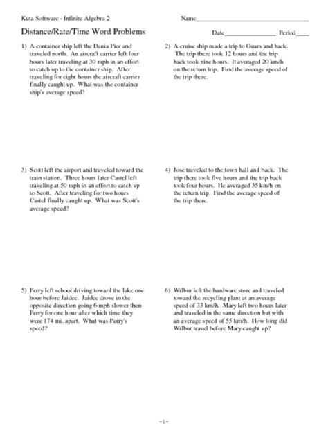 printables distance formula word problems worksheet