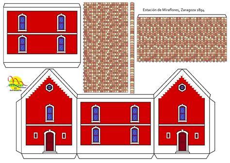 recortables de edificios antig 252 a estaci 243 n de miraflores en zaragoza spain edificios de papel