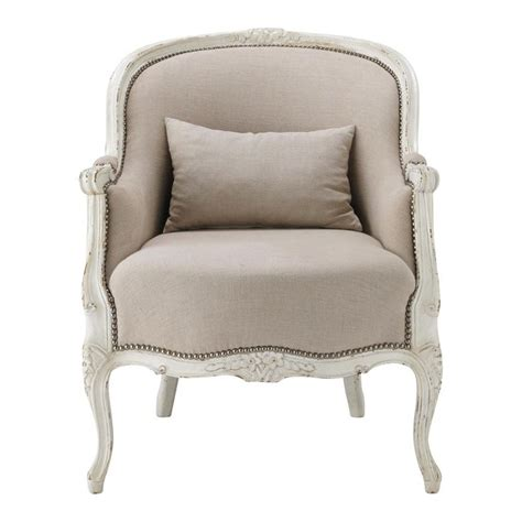 fauteuil de salon lin montpensier maisons du monde