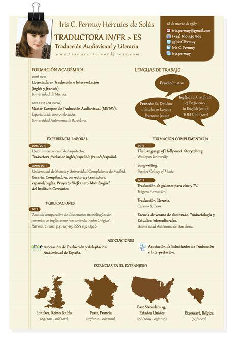 Traducir Resume En Espanol by El Cv De Traductor Freelance En 500 Palabras