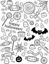 Coloring Sweets Candy sketch template
