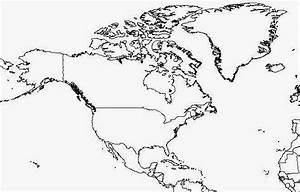 Blank North America Map Free Printable Maps