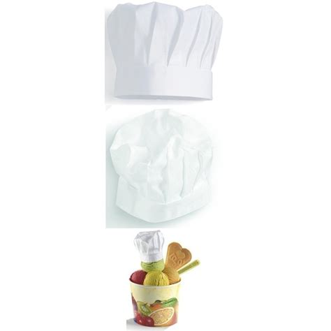 toqué 2 cuisine toque cuisine chef pâtissier hauteur 220 mm 100 coton paquet de 2