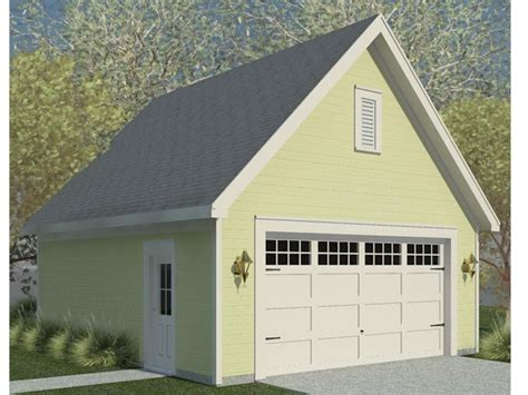 2car Garage Plans  Double Garage Plan With Front Facing