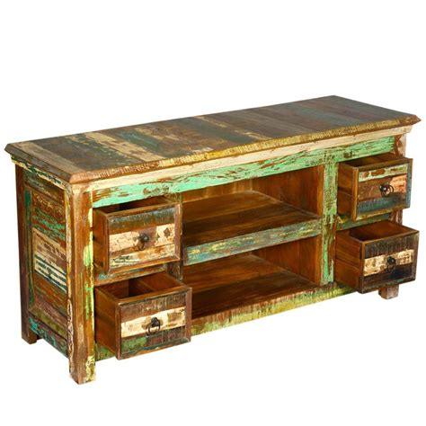 reclaimed wood furniture  drawer rustic tv stand media console