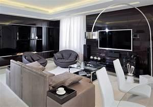 Wohnzimmer Bild Grau : wohnzimmer in grau und schwarz gestalten 50 wohnideen ~ Michelbontemps.com Haus und Dekorationen