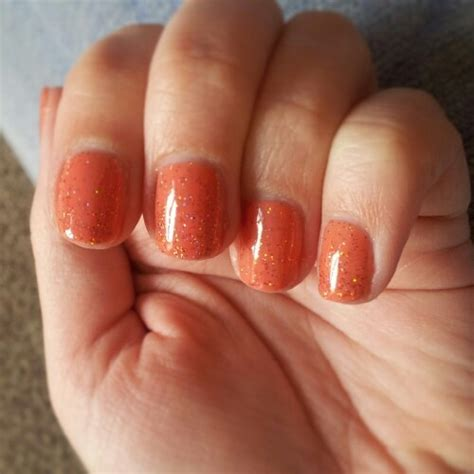 Sensationail Coral Sunset And Tangerine Glitter Nails Pinterest Coral Glitter And Sunsets