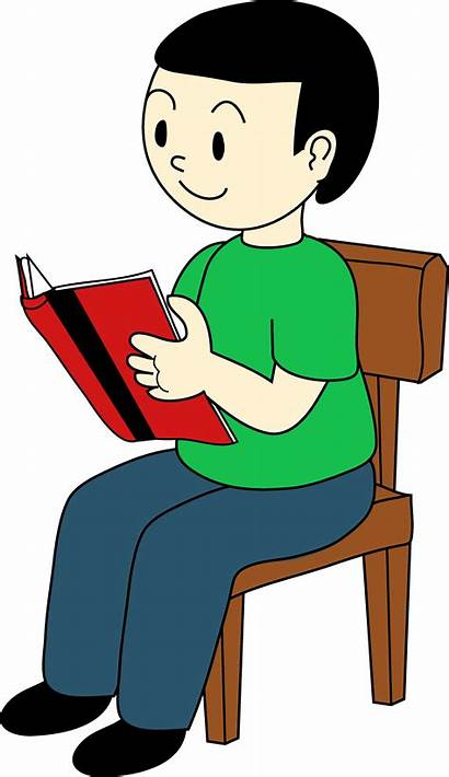 Sitting Clipart Chair Sit Reading Down Clip