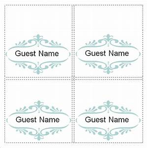 Place card template 6 per sheet the letter sample for Place card template word 6 per sheet