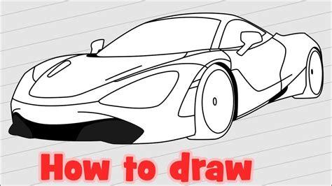 How To Draw A Super Car Mclaren 720s