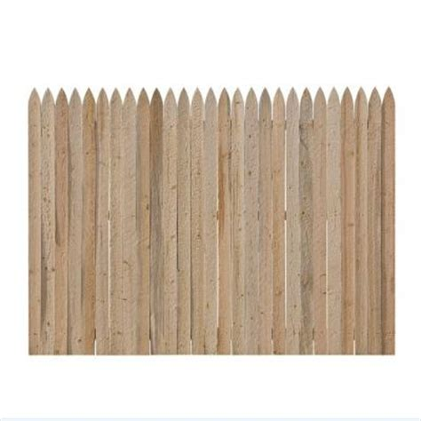 home depot fence sections 6 ft x 8 ft spruce pine fir fence panel 131121 at