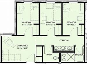Three bedroom floor plans joy studio design gallery for Three bedroom plan