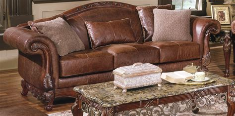 Brown Leather Sofa With Impressive Interior Layout Traba