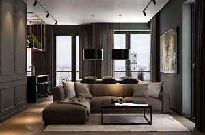 Modern, Dark, Interior, Design