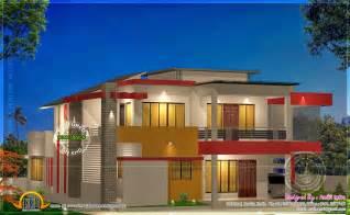 modern house floor plans free modern 4 bhk house plan in 2800 sq kerala home design and floor plans