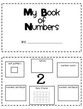 My Number Review Book | Classroom ideas | Teaching math, Math school, Numbers preschool