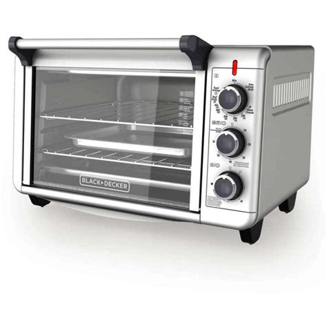 black decker stainless steel convection 6 slice toaster oven black decker 6 slice convection kitchen countertop toaster