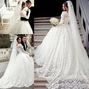 2017 ball gown lace wedding dress arabic style appliques With robe mariee courte avec bague argent