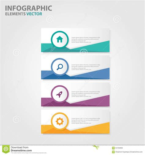 Colorful Infographic Presentation Template Brochure Flyer Colorful Label Infographic Presentation Templates Flat