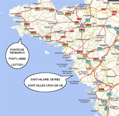 Cote Atlantique Espagne Carte by Info Carte Cote Atlantique Voyages Cartes