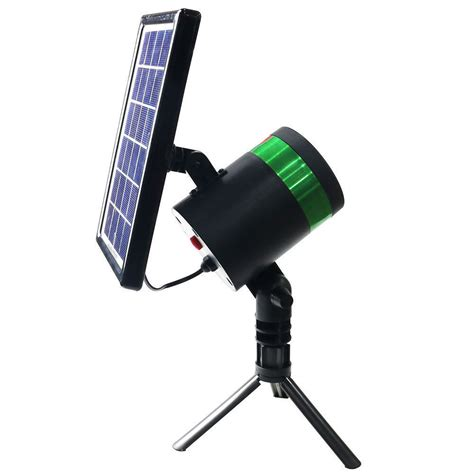 lenoxx indoor outdoor spinning solar laser light lights