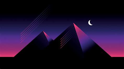 Wallpaper Computer Hd by Retro Wave Pyramid Oc 3840x2160 In 2019 Retro Waves