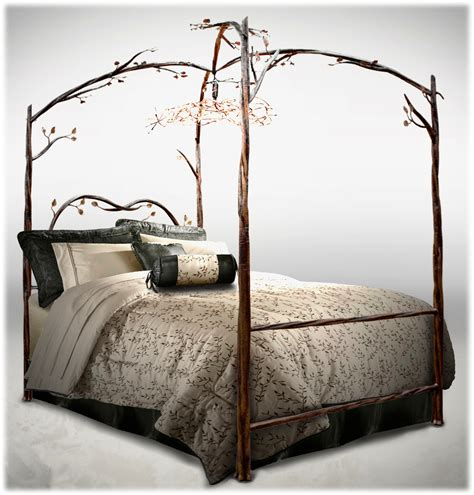 Enchanted Bed Stone County Iron Works Designer Canopy Bed