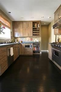 very dark brown hardwood floors