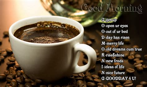 good morning wishes messages sms coffee image
