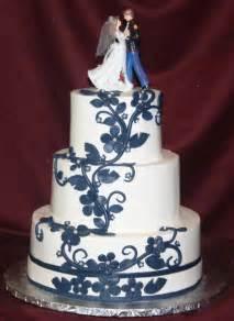beautiful bridal navy blue wedding cakes - Navy Blue Wedding Cake