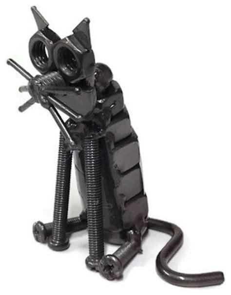 repurposed auto parts sculpture metal cat industrial