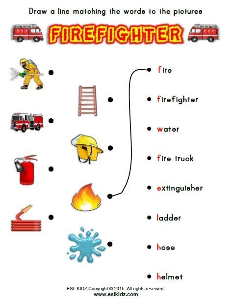 firefighter worksheets for kindergarten 442 | firefighter 9