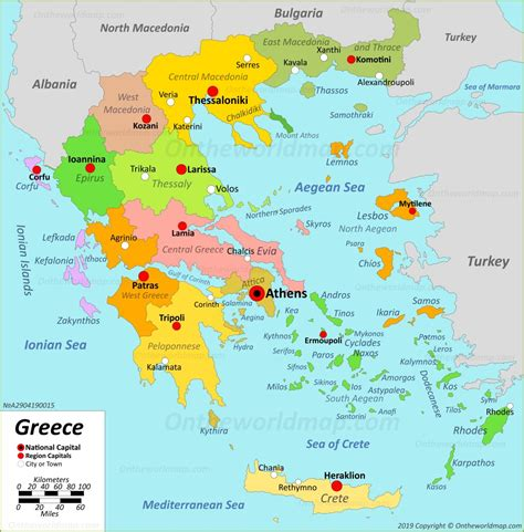 greece maps maps  greece