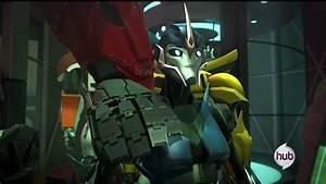Image - Optimus hand on Arcee.jpeg | Transformer: Prime ...