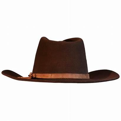 Cowboy Hat Transparent Clipart Background Brown Fedora