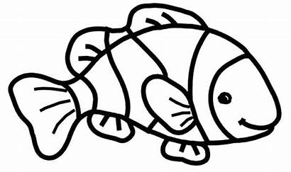 Fish Coloring Clown Pages