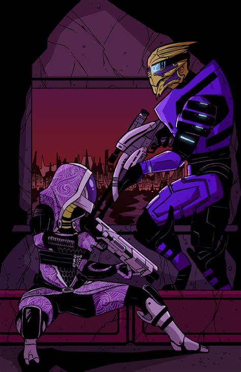 Tali And Garrus Mass Effect 2 By Jakeekiss On Deviantart