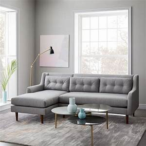 crosby mid century 2 piece chaise sectional west elm With west elm crosby sectional sofa