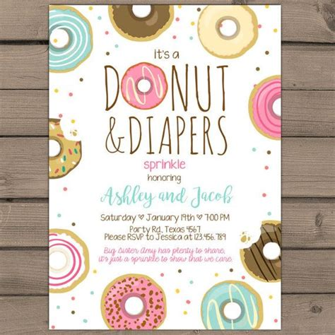 donuts  diapers sprinkle baby shower  anietillustration