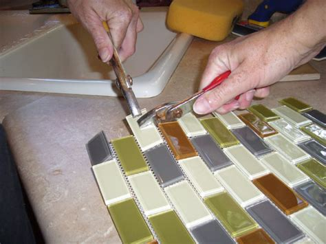 cutting glass tile how to install your own tile backsplash gt remodeling central