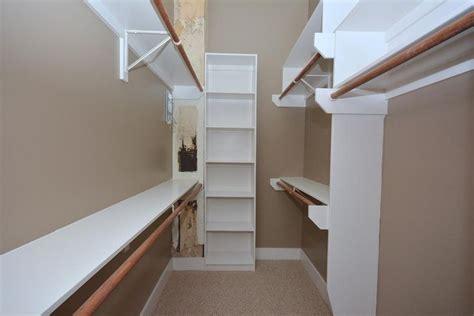narrow walk in closet home