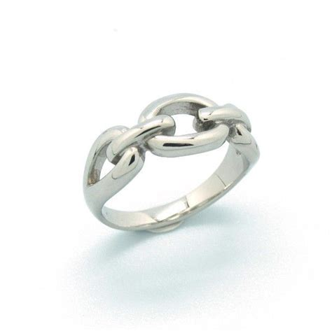 chain stainless steel engagement ring non tarnish high