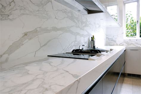 calacatta marble kitchen benchtops marable slab house sydney