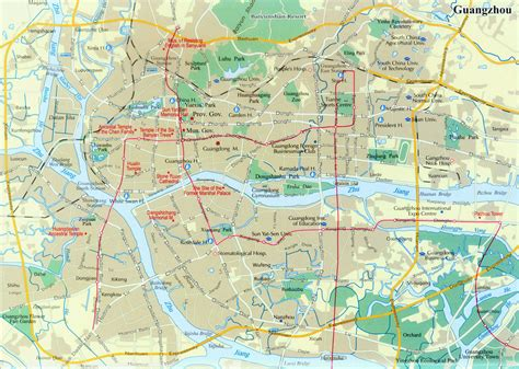 guangzhou city map map  guangzhou city china