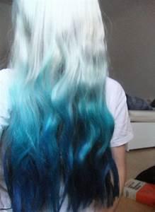 Pastel blue ombre dip dyed hair || Mi Cha hair insp | Hair ...