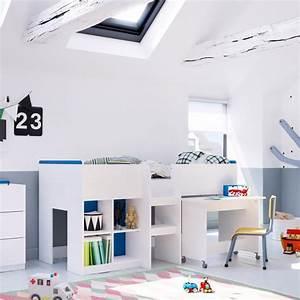 Lit Mezzanine Bureau Enfant : 10 lits enfants en mezzanine pour s 39 inspirer blog but ~ Teatrodelosmanantiales.com Idées de Décoration