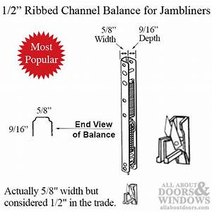 1  2 U0026quot  Ribbed Channel Balance For Wood Windows With Vinyl Jambliners   02 End Bracket Attached