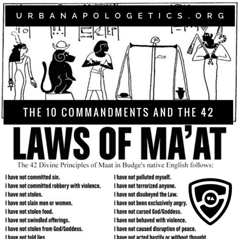 The 10 Commandments And The 42 Laws Of Ma'at Urban