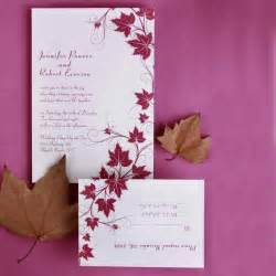 affordable wedding invitation sets modern maple leaves discount wedding invitation sets ewi057 as low as 0 94