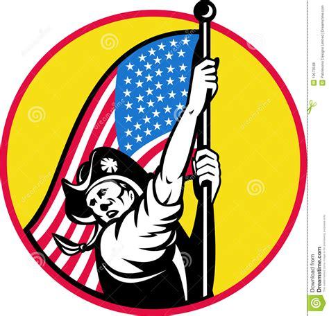 american revolutionary flag royalty  stock